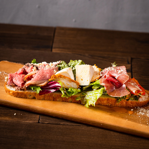 Focaccia Open Sandwich